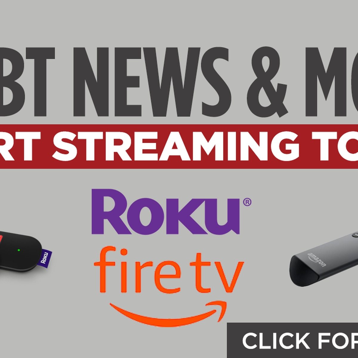Stay connected with WLBT 3 On Your Side on ROKU and Amazon Fire
