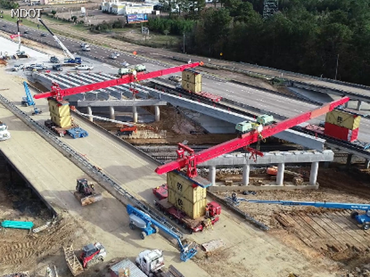 Ramp and lane closures, traffic congestion expected this weekend along I-55 and I-20