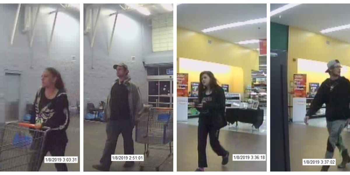 Four wanted for shoplifting from Pearl business