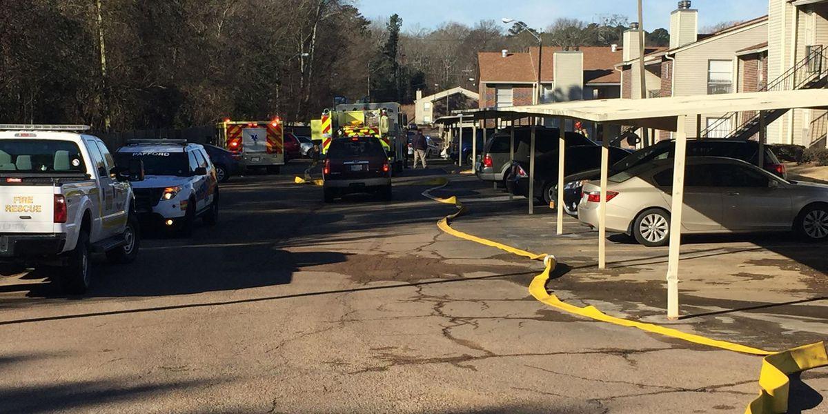Ridgeland apartment complex catches fire