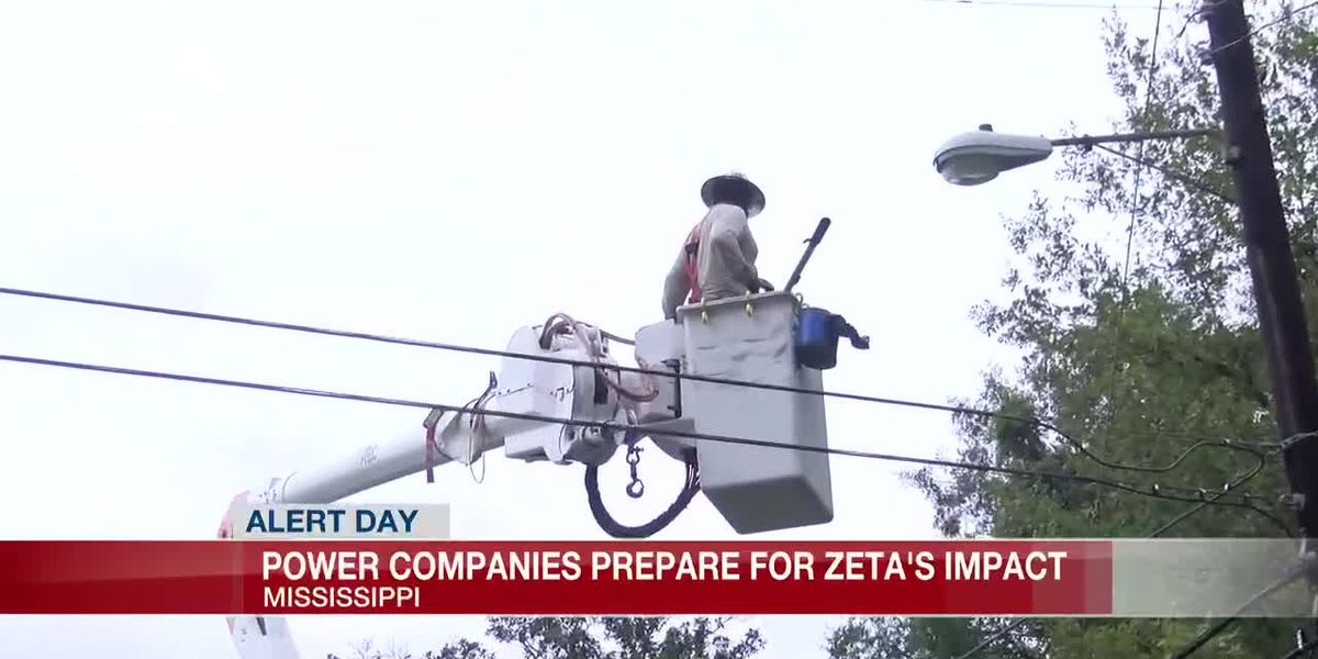 Power companies prepare for Zeta's impact