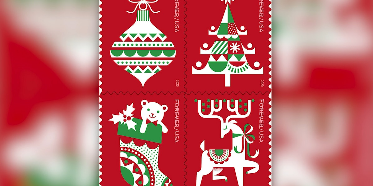 U.S. Postal Service unveils new holiday stamps