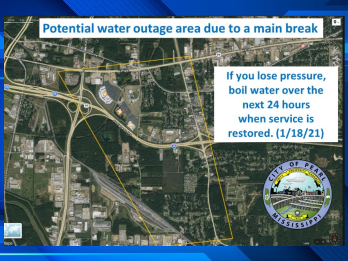Some in Pearl experiencing water outage due to 16-inch main break