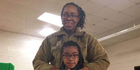 Military mom surprises daughter at Selma elementary school
