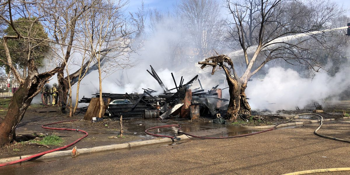 Abandoned home reduced to ash after catching fire in Jackson