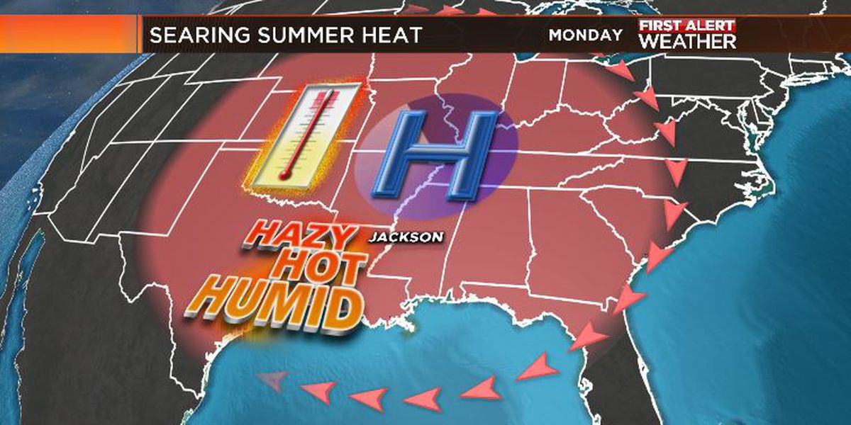 First Alert Forecast: turning oppressively hot across central Mississippi