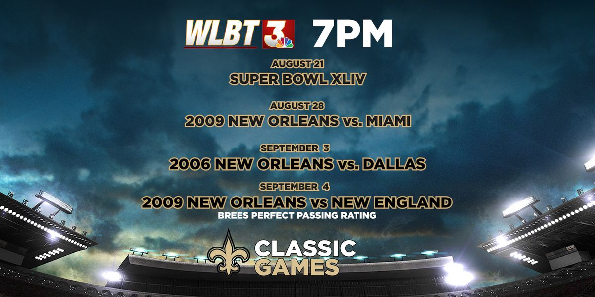 Saints Classic Games on WLBT