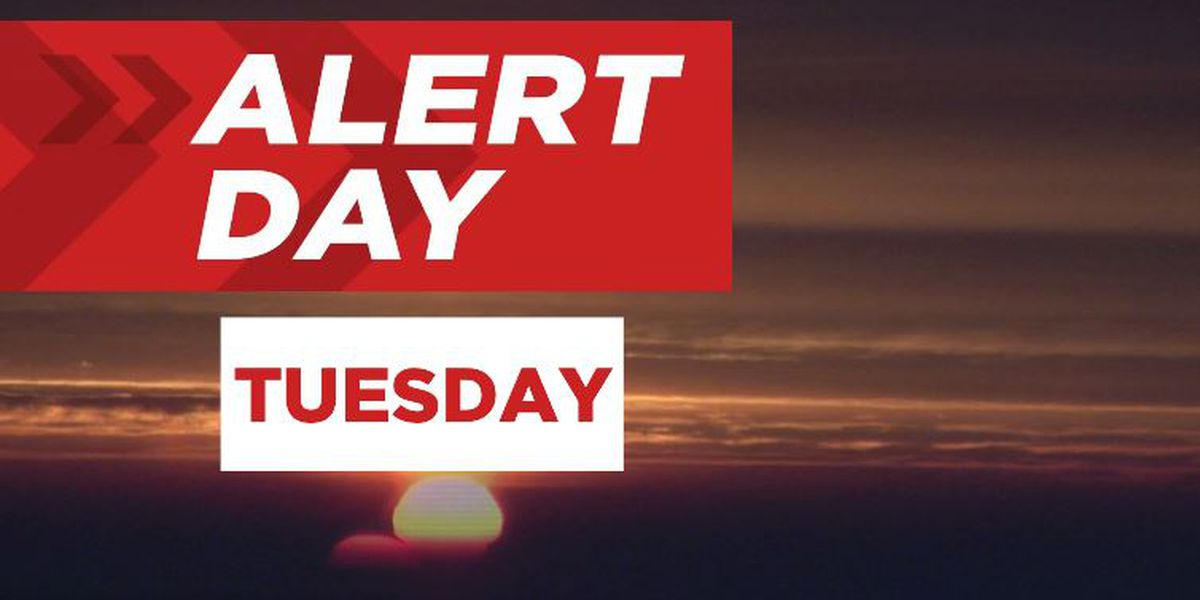 ALERT DAY FORECAST: oppressive heat hits its peak Tuesday