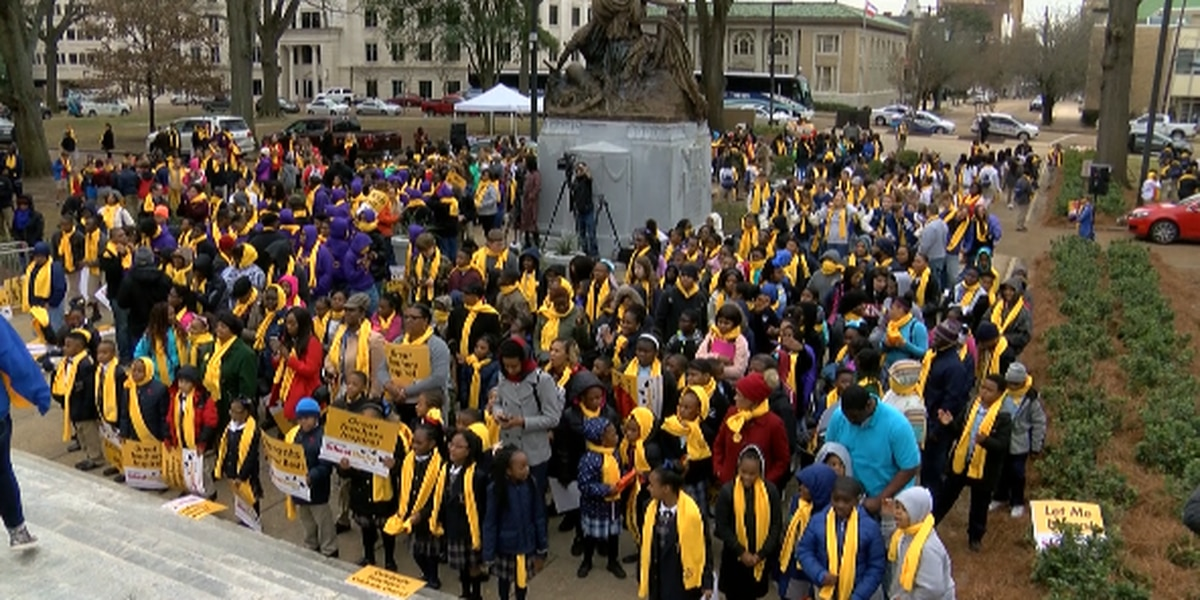 Parents and students rally for school choice