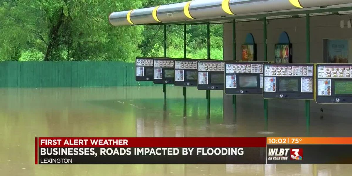Businesses, roads closed due to flooding in Lexington