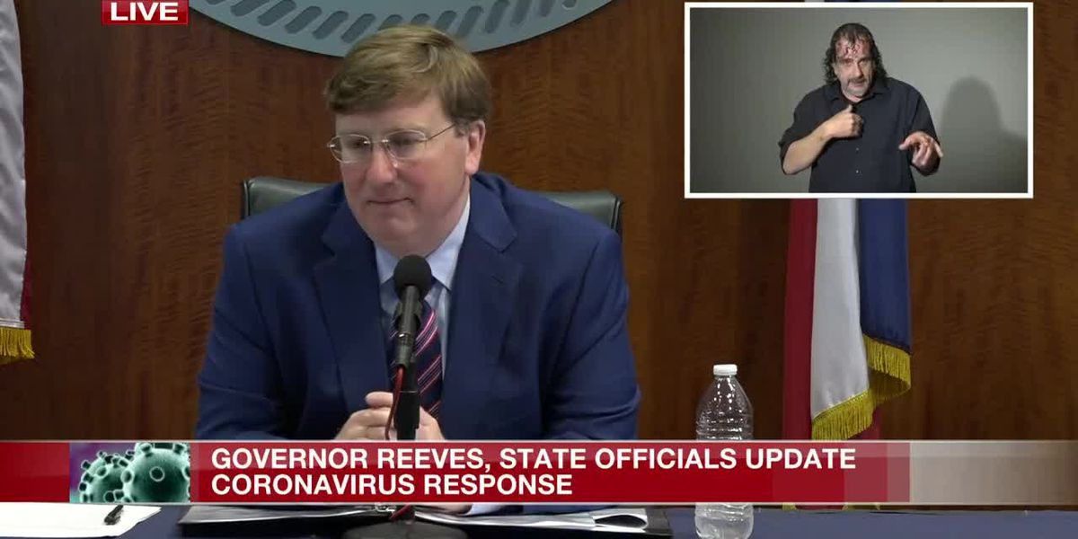 WATCH LIVE: Governor Tate Reeves discusses latest efforts to combat COVID-19 in Miss.
