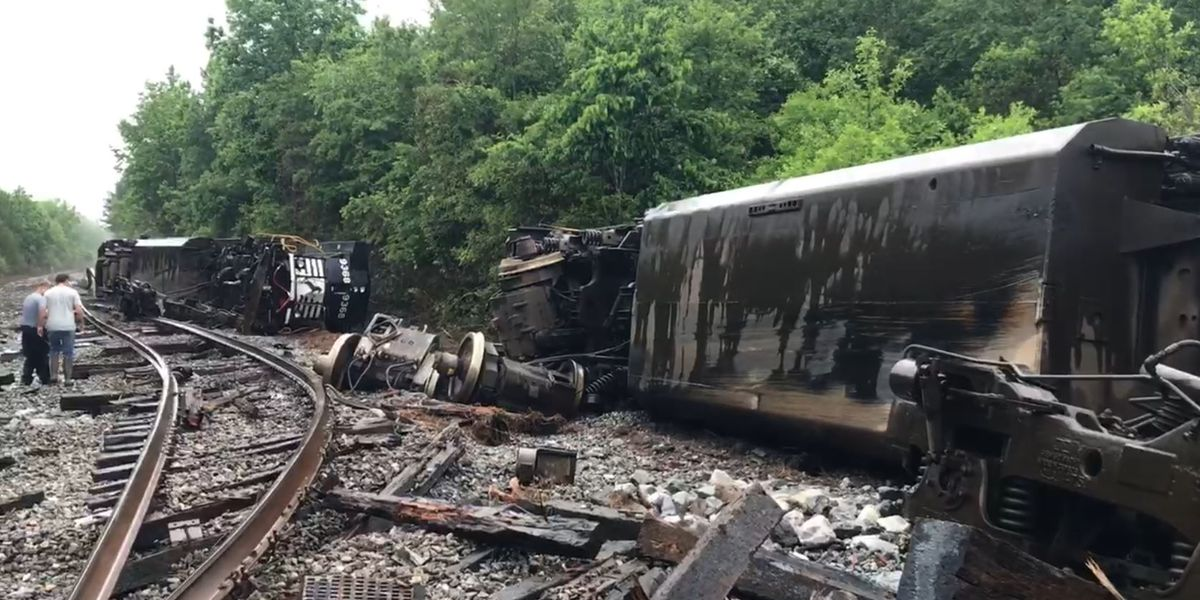 VIDEO: Train derailed, roads closed as water rises in Pearl River County