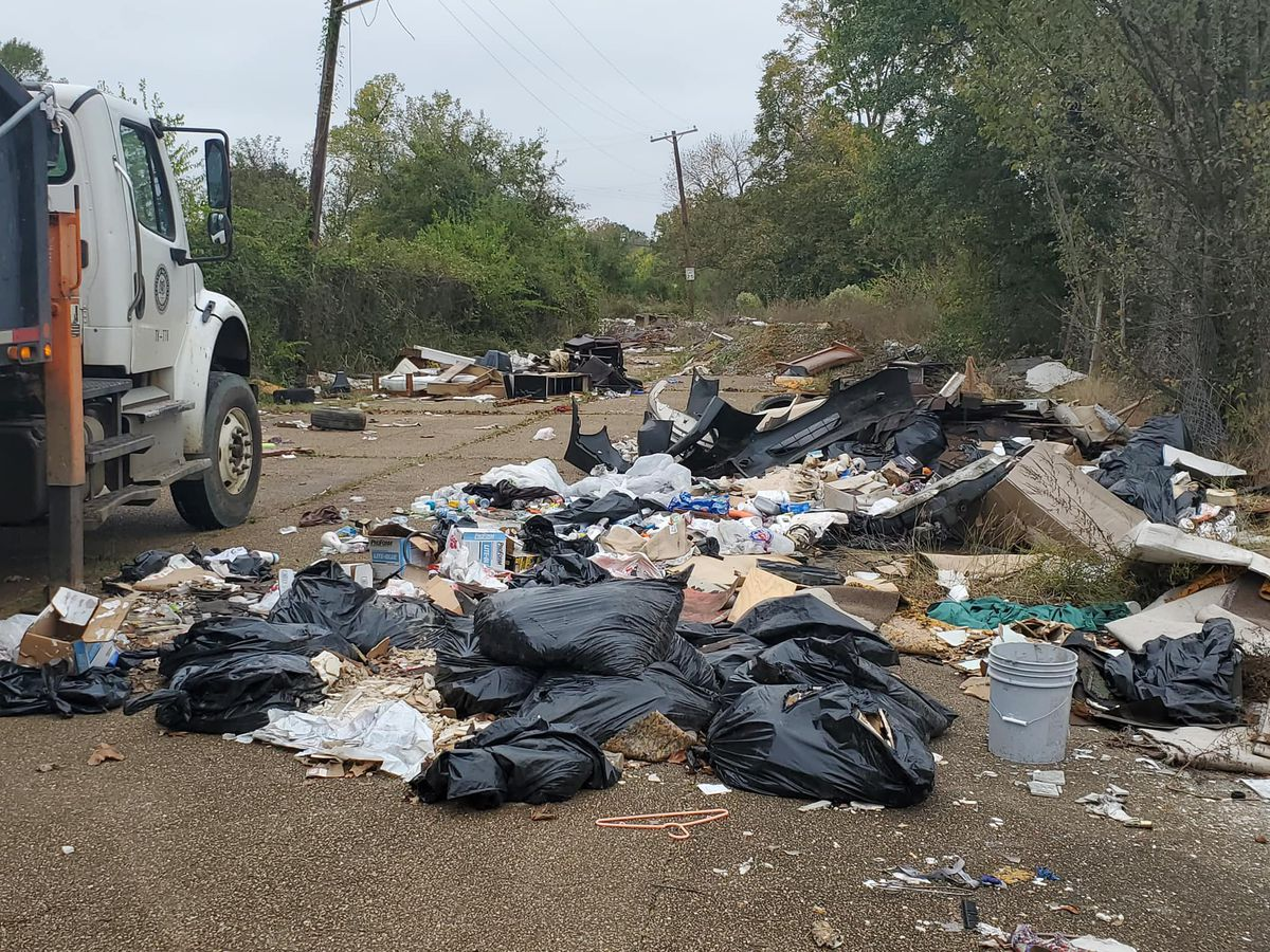 240 cubic yards of illegally dumped trash collected from Capers Ave.
