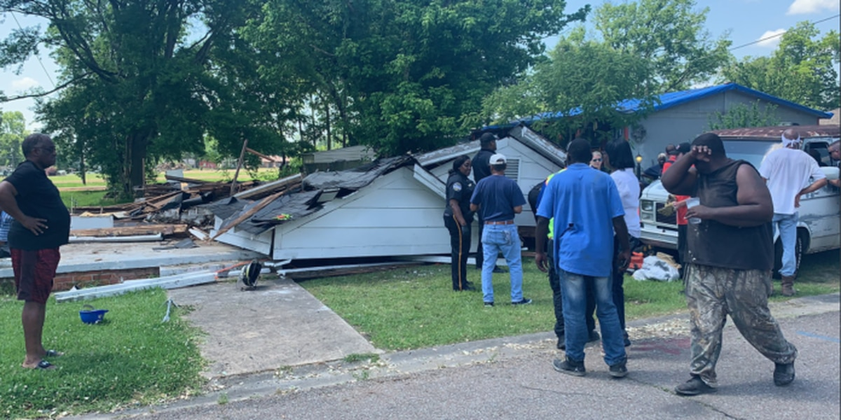 Two injured after house collapses in Columbus