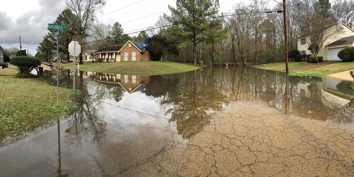 SLIDESHOW: Streets around central Miss. take on water from rising Pearl River