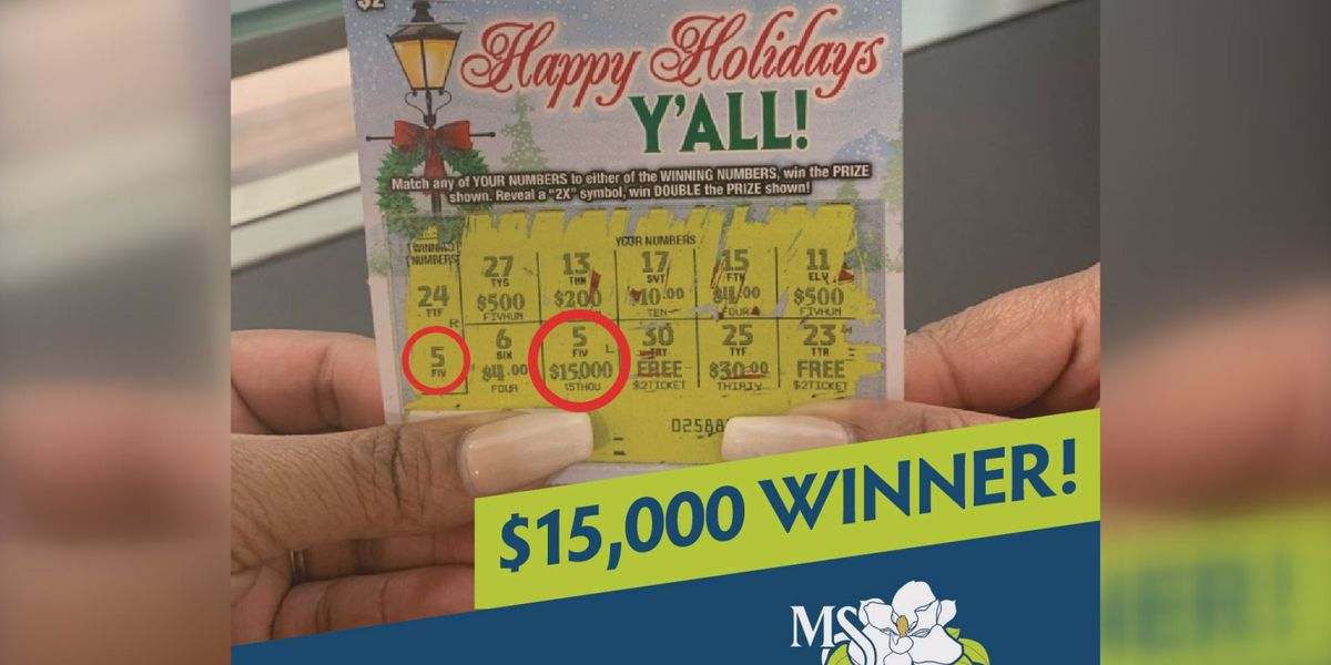 Anonymous winner walks away with $15,000 off a Mississippi Lottery ticket