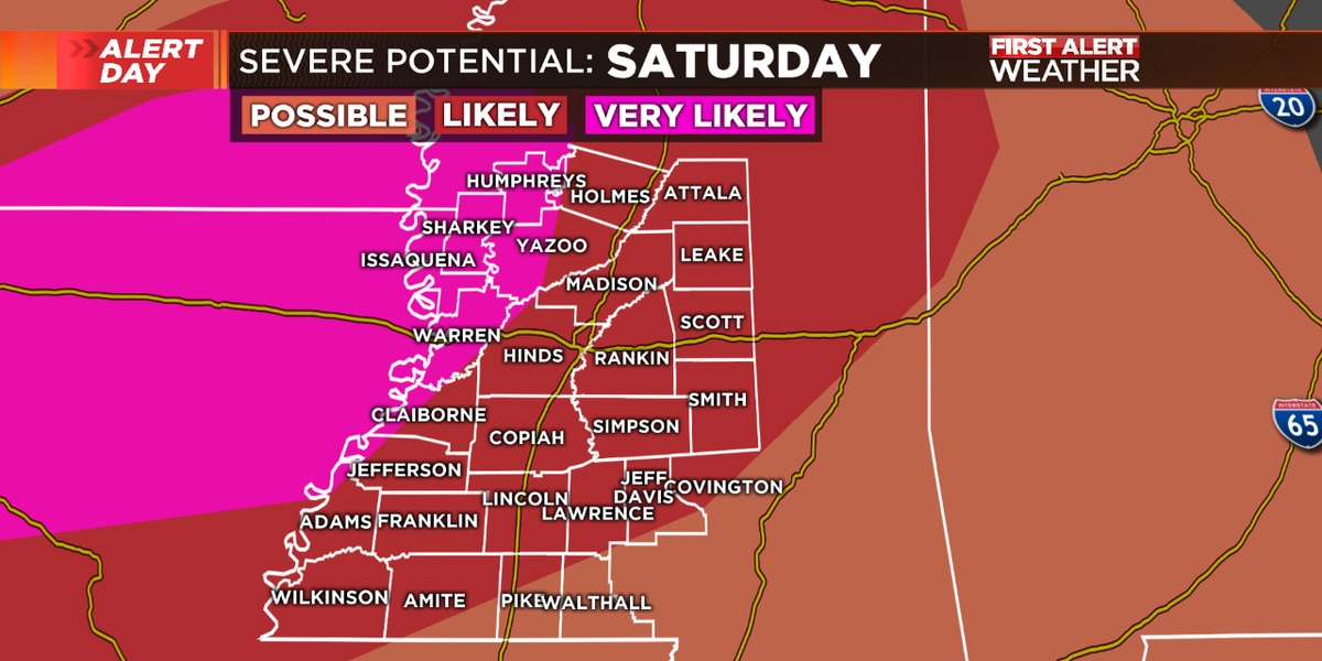 Severe weather possible late tonight & Sunday