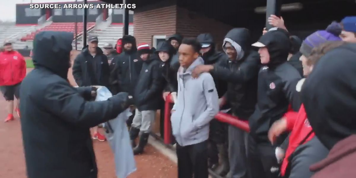 Clinton High School baseball team surprises manager with special jersey