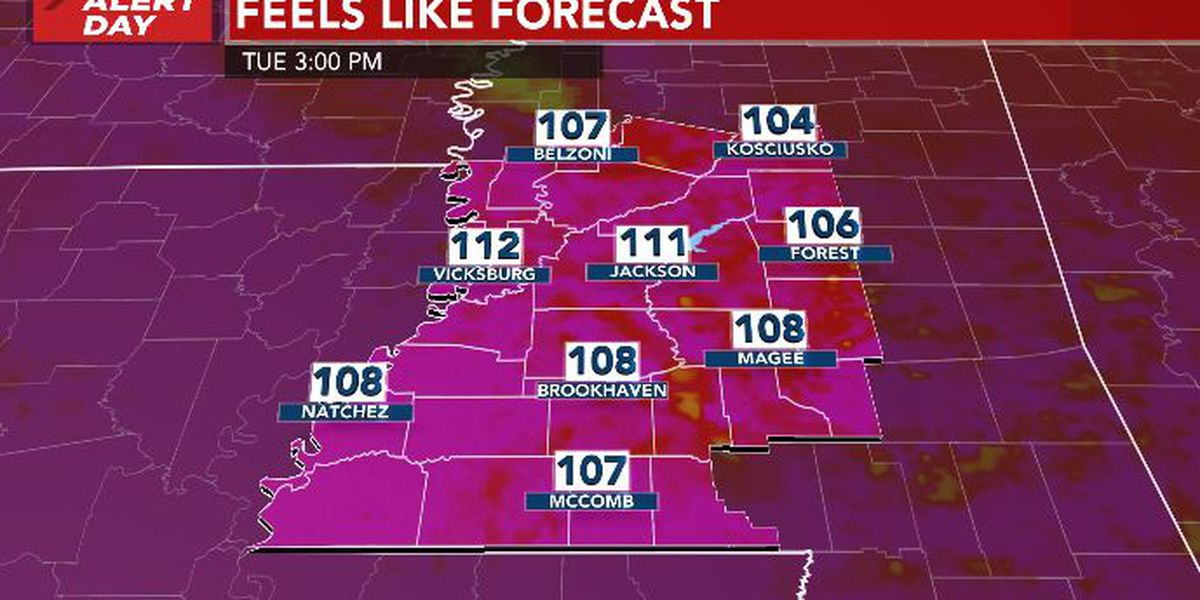 ALERT DAY: heat stress continues to impact central Mississippi