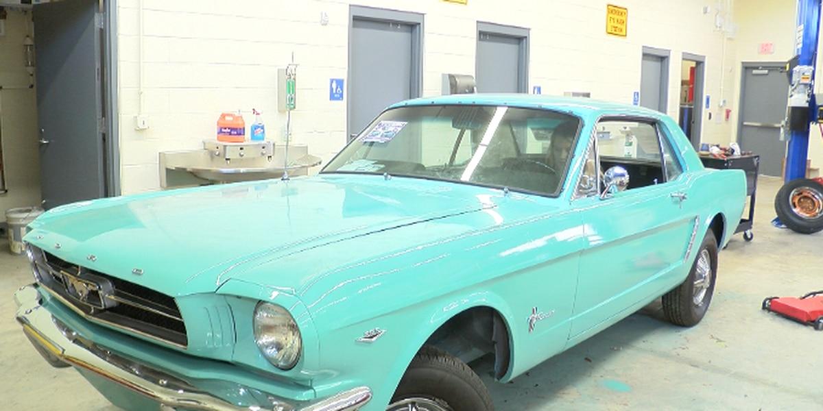 Vintage 1965 Mustang restored by high school kids, raffling off for $20
