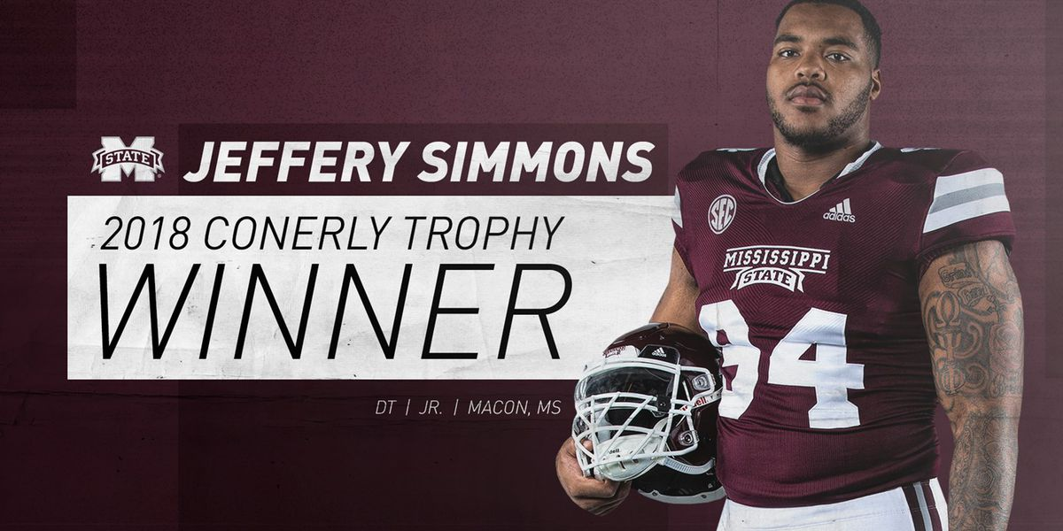 Jeffery Simmons wins 23rd annual C Spire Conerly Trophy