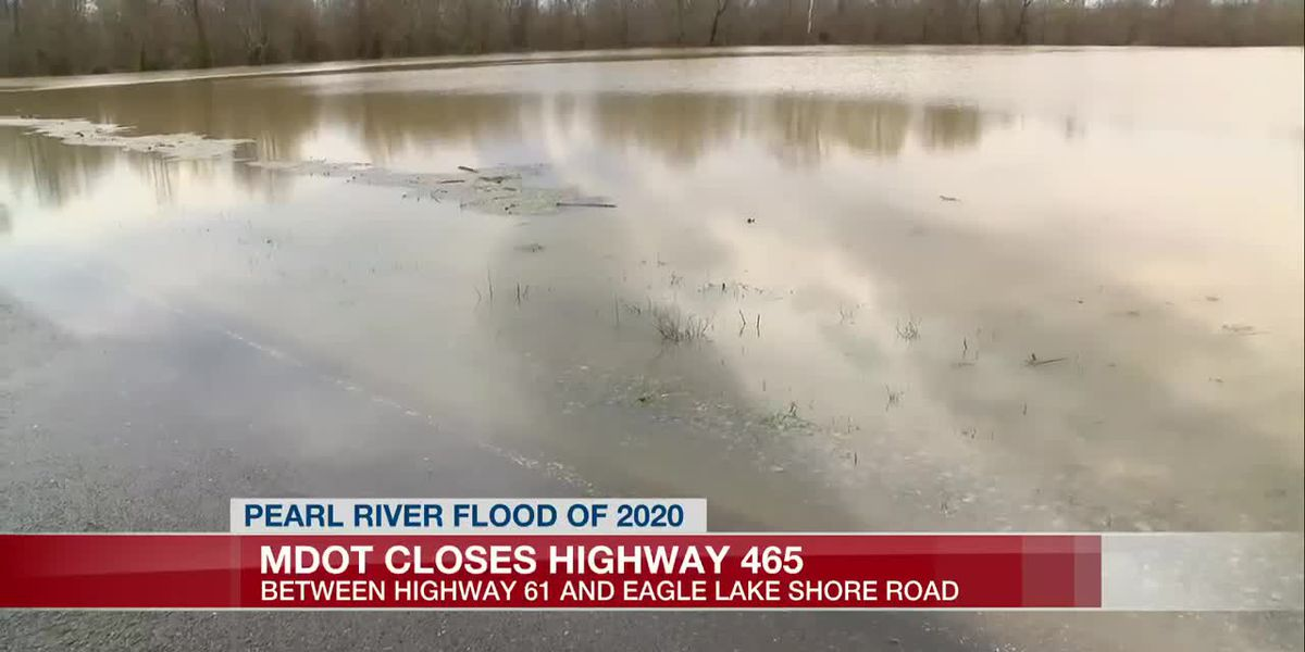 Highway 465 Closed due to backwater flooding