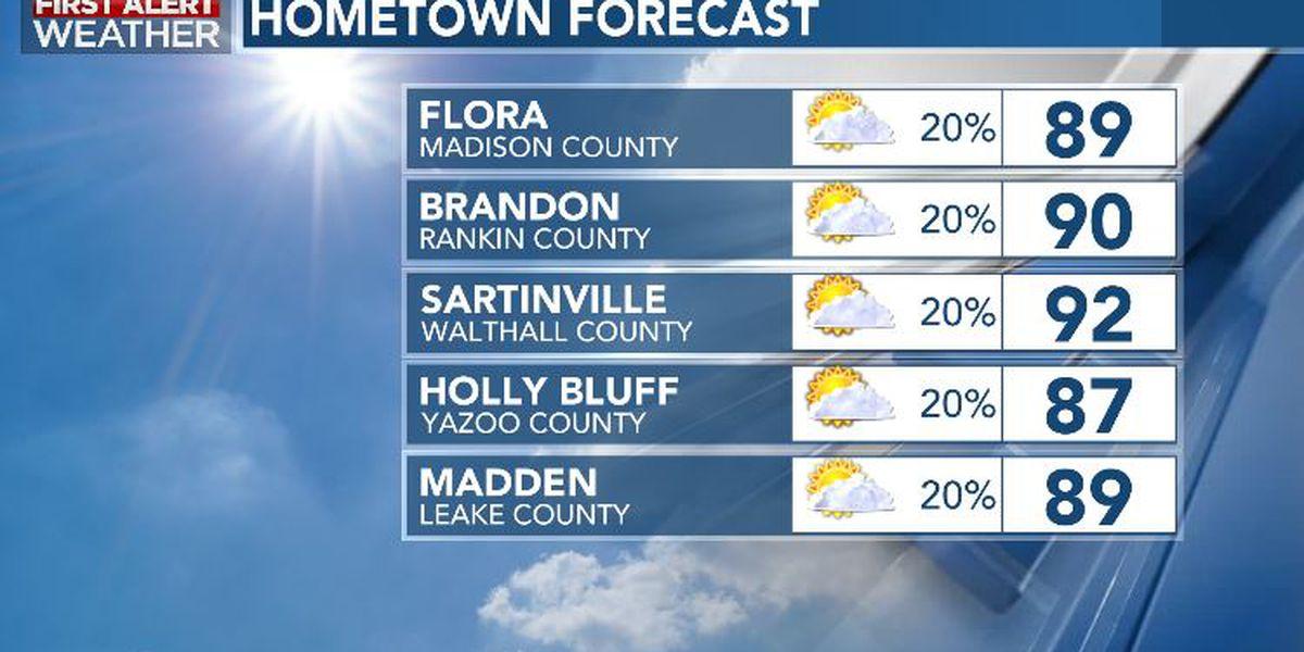 First Alert Forecast: seasonable ahead of a return of the summery steam this week
