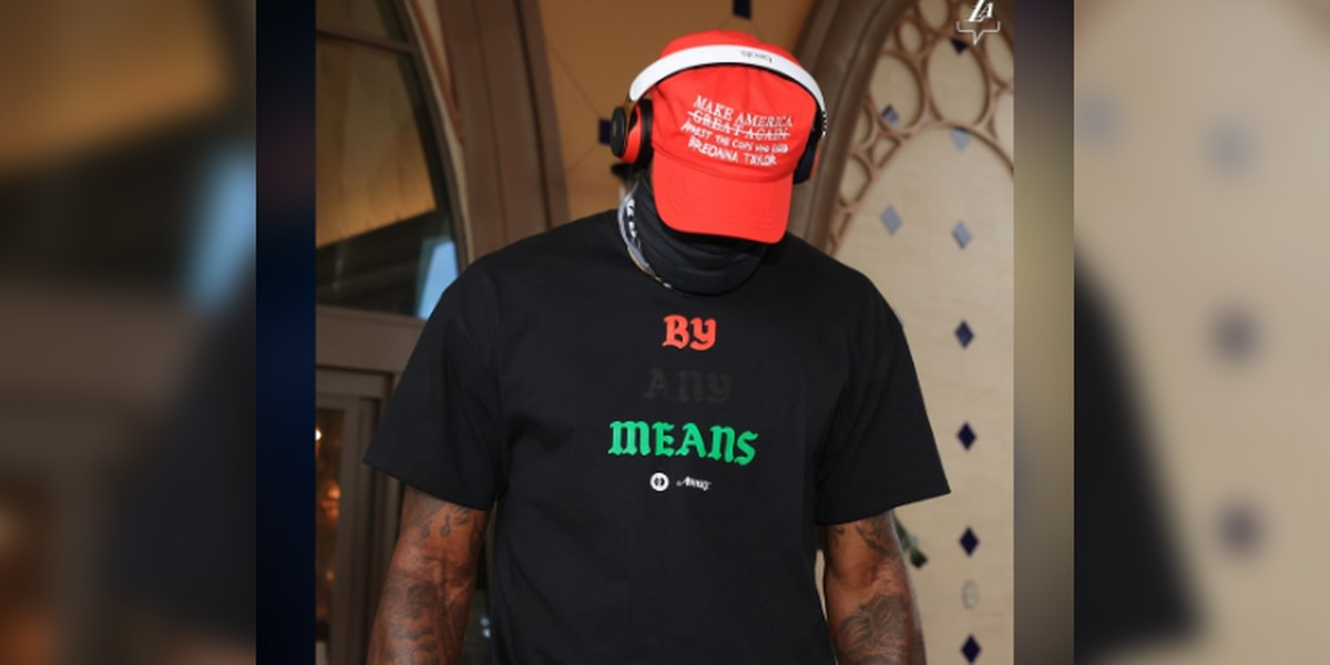 LeBron James makes statement with modified 'MAGA' hat at Lakers' NBA playoffs game