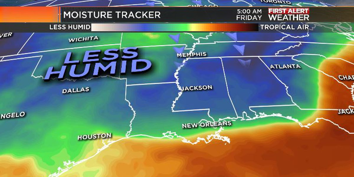 First Alert Forecast: hot, not as humid Thursday
