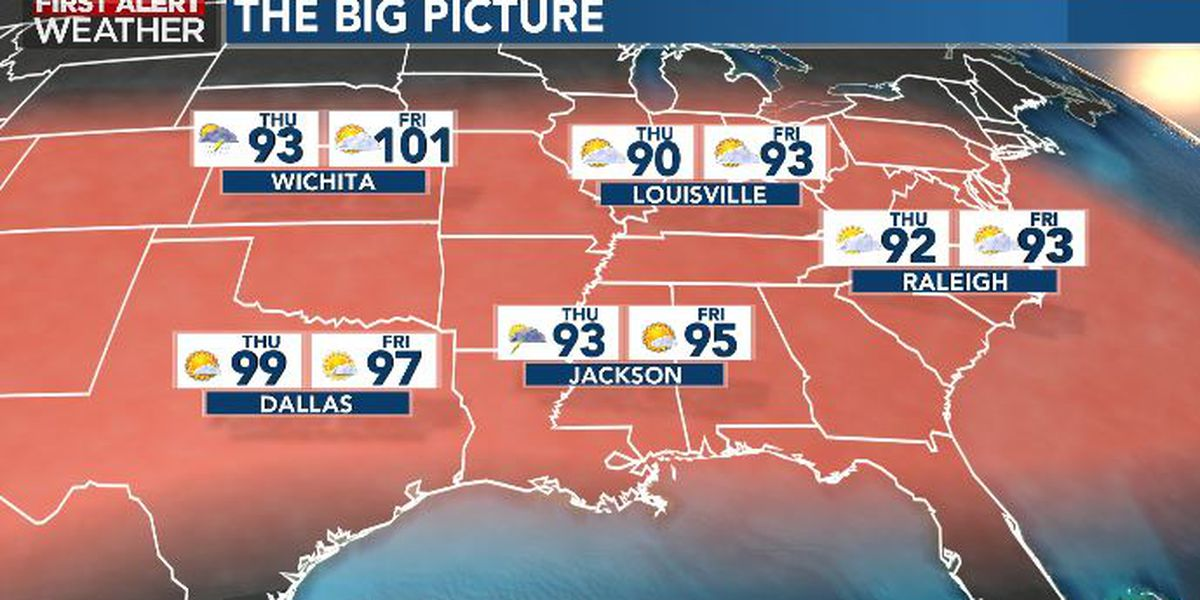 First Alert Forecast: Hot, muggy weekend ahead!