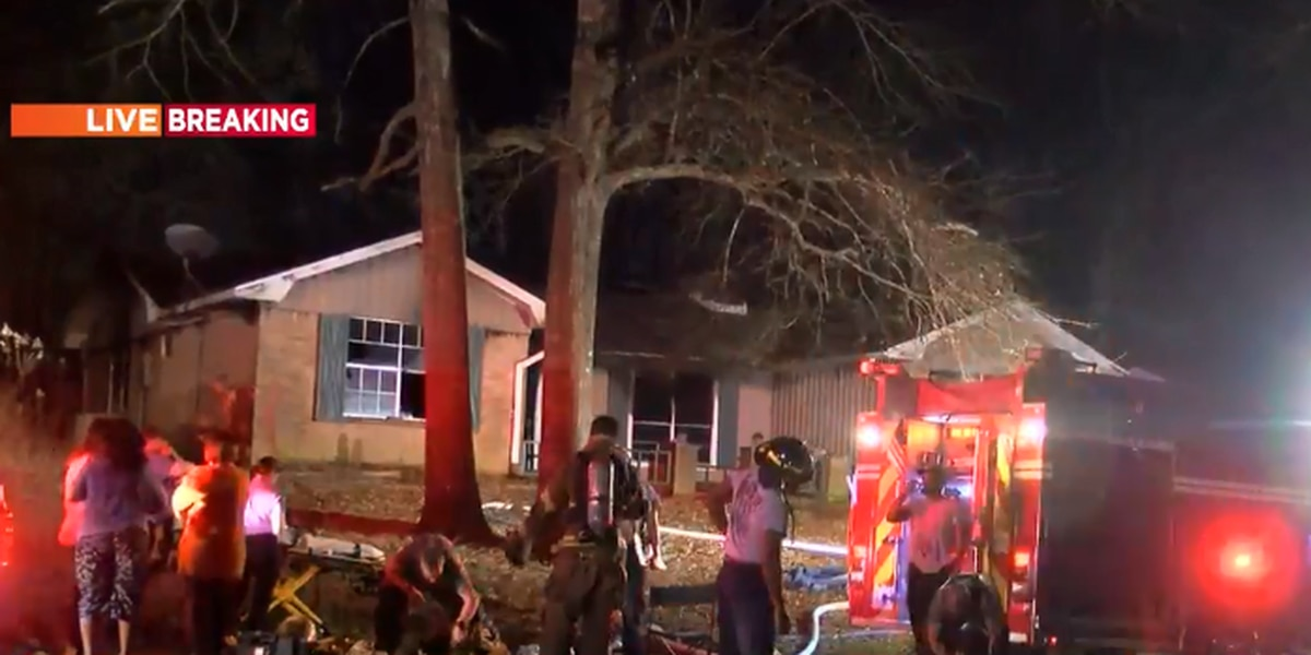 At least one person rescued from Clinton house fire