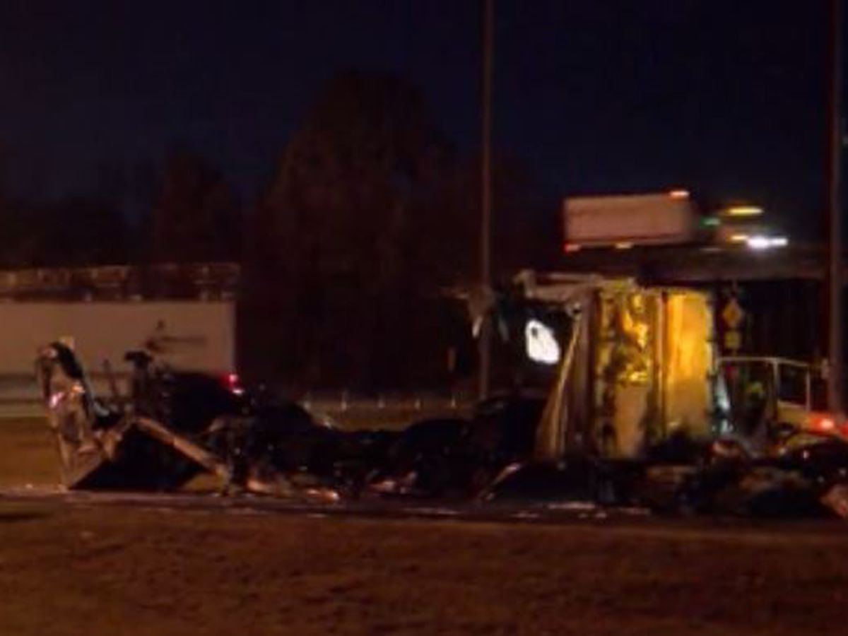 18-wheeler fire blocks exit ramp at I-20 at Gallatin for hours overnight