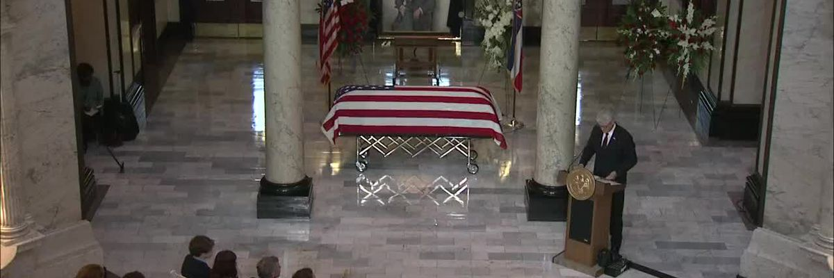 Funeral service for former U.S. Sen. Thad Cochran at Miss. Capitol