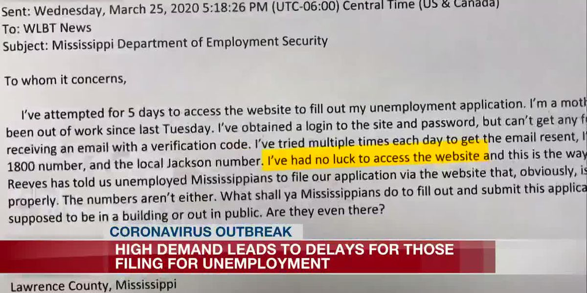 High demand for unemployment claims outpaces state's ability to keep up