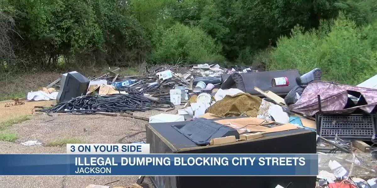 Illegal dumping blocking streets