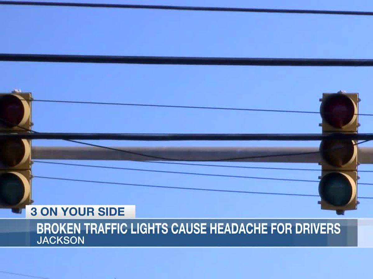 'Y'all, we got to do better': Broken traffic lights in west Jackson causing headaches