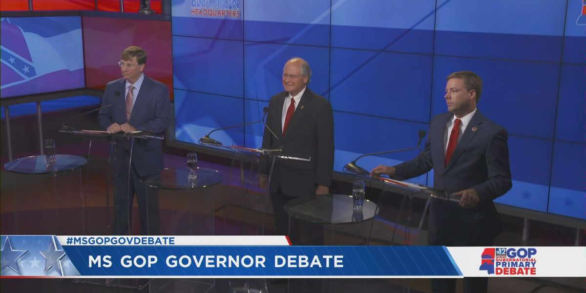 Republican gubernatorial candidates face off in debate