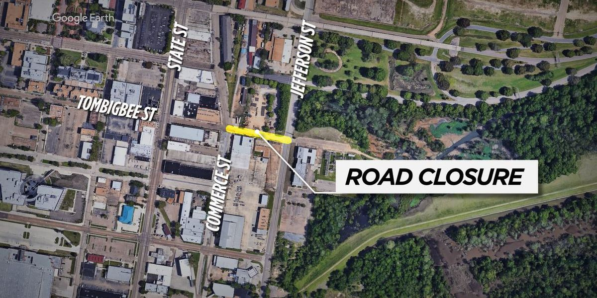 Portion of Tombigbee St. in Jackson to close Tuesday for roadwork