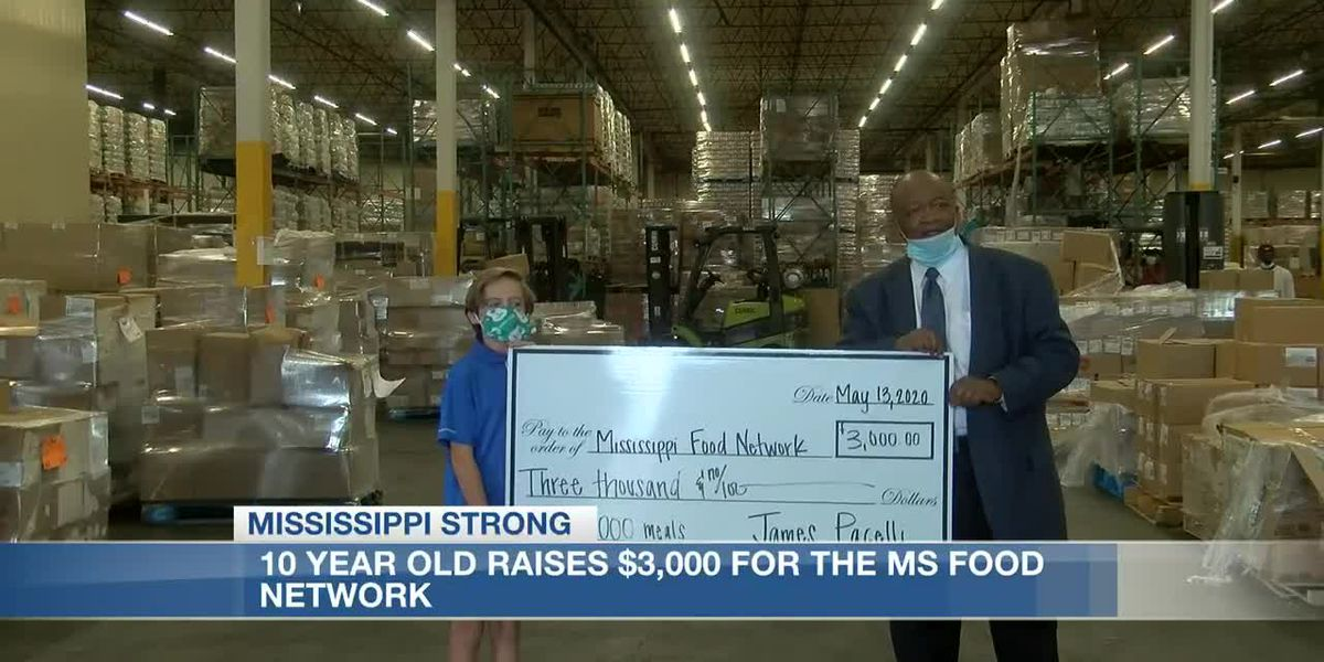 Brandon 10 year old raises money for MS Food Network to feed hungry families