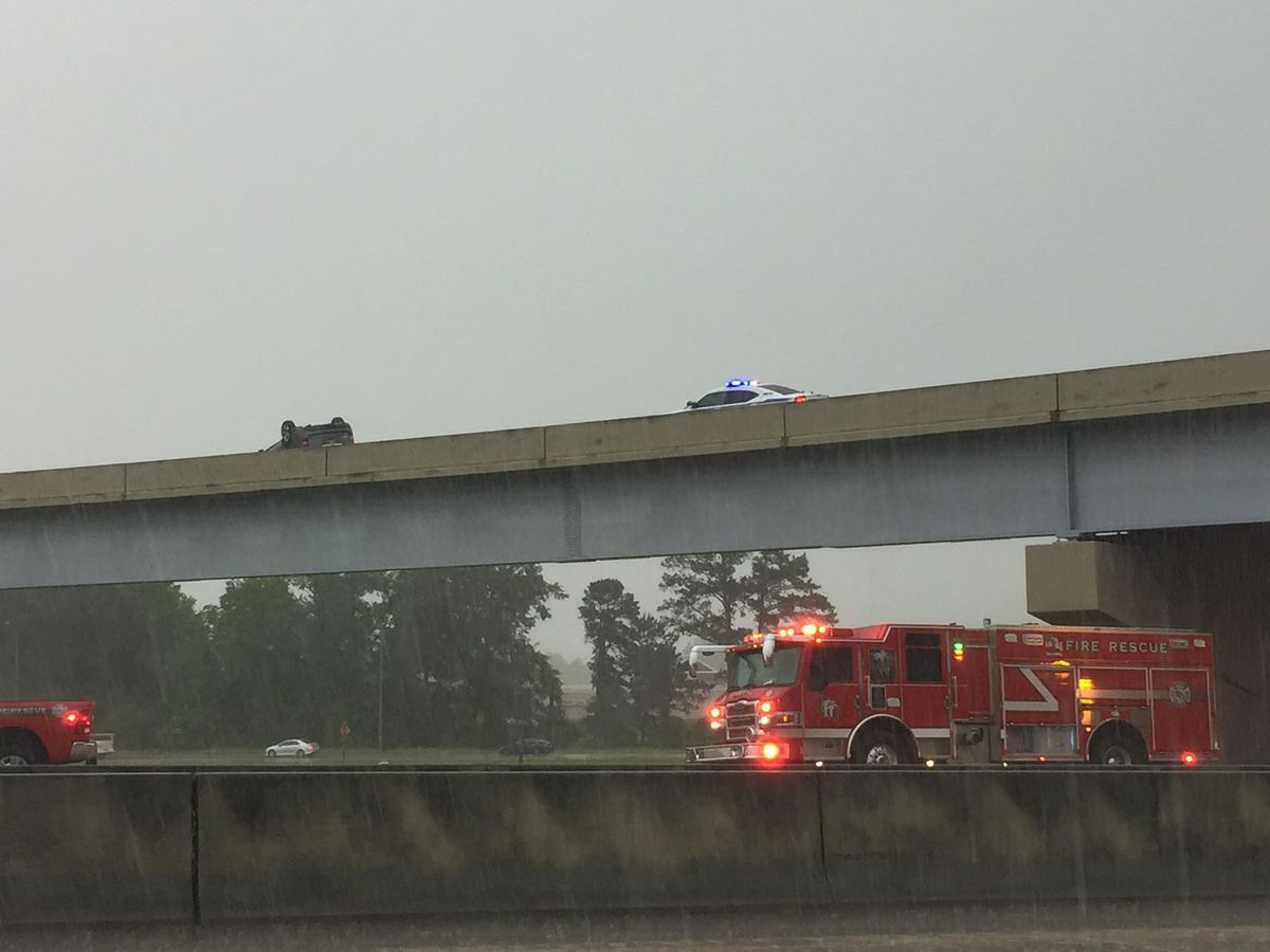 One dead after vehicle falls off Hwy 49 flyover bridge