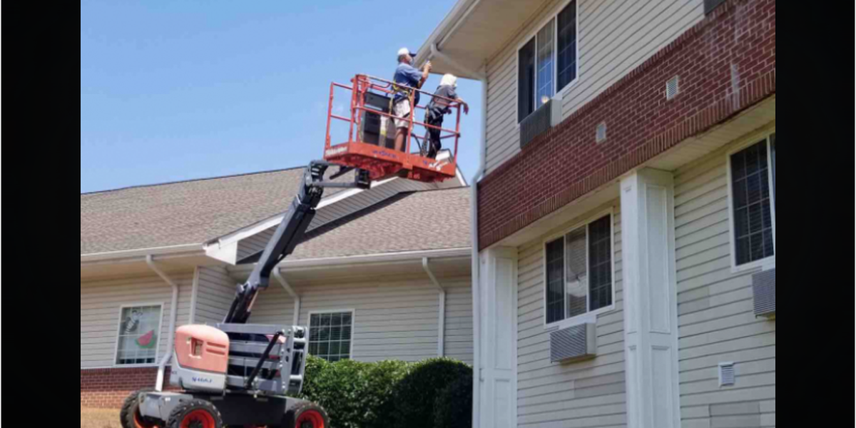 Woman uses forklift to visit parent in Clinton senior care facility
