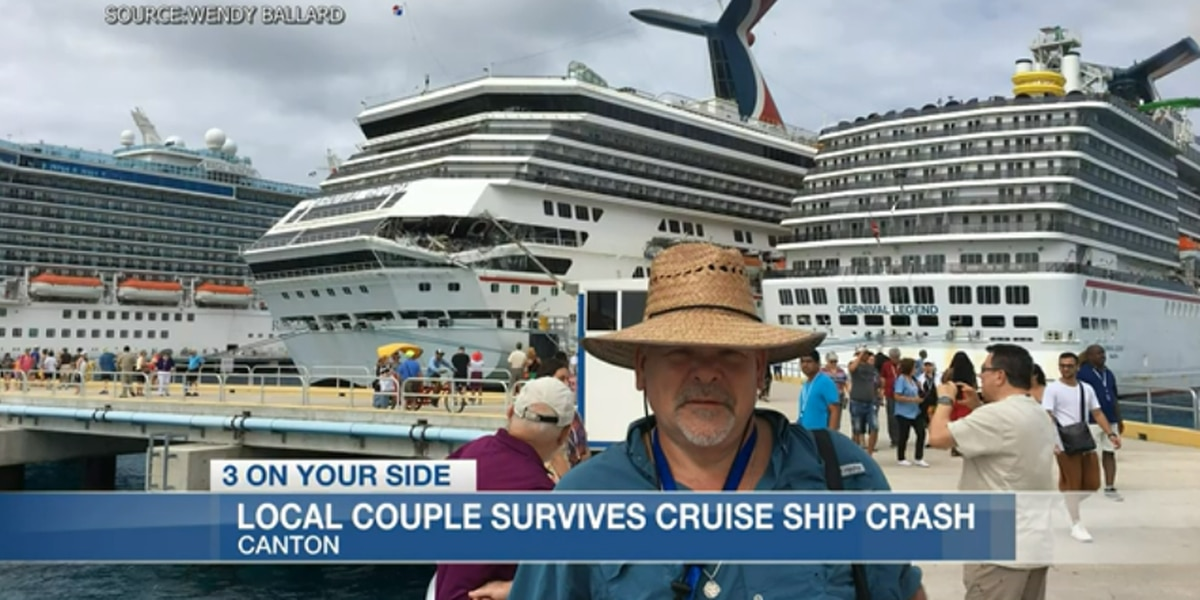 'We're done with big ships': Canton couple aboard as cruise ships crash into each other