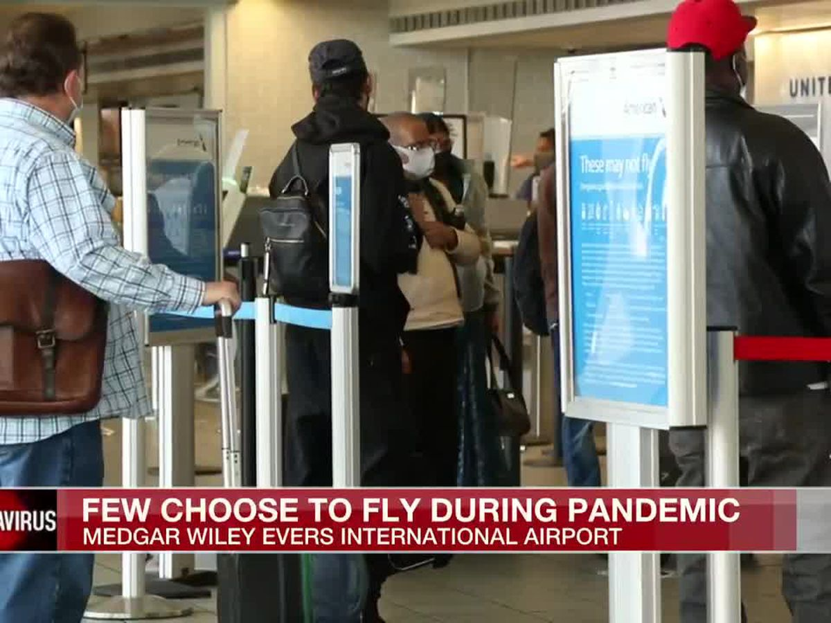 Amid pandemic concerns, pre-Thanksgiving passenger counts drop at Mississippi's largest airport
