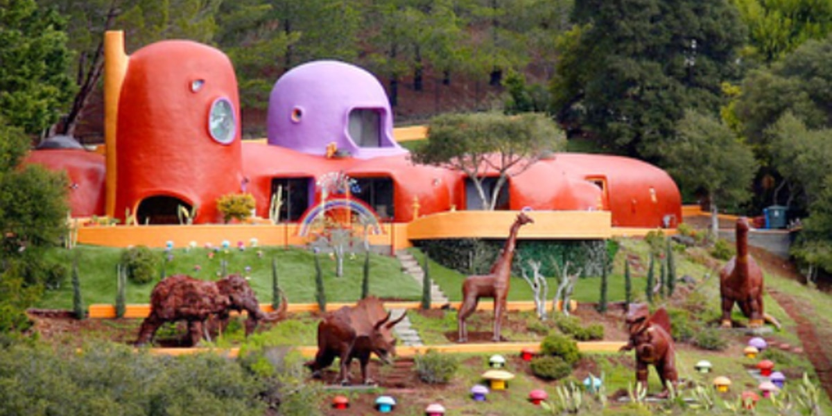 Town sues over Flintstones themed house, calls it a 'highly visible eyesore'