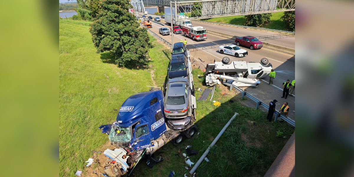 Westbound lanes of I-20 at Miss. River Bridge in Vicksburg reopened to traffic