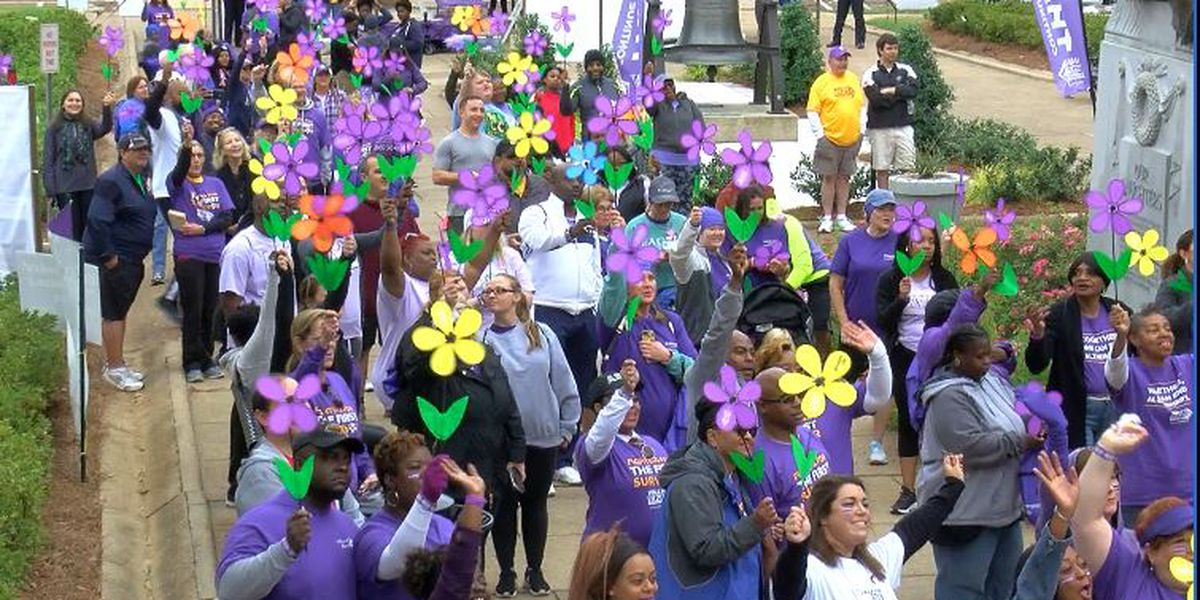 Hundreds participate in the Walk to End Alzheimer's in Jackson