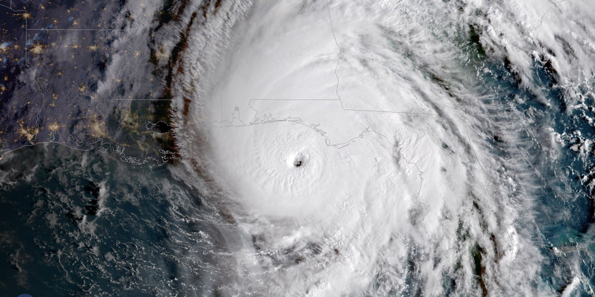 Watch as Hurricane Michael comes ashore from live cams along the Florida coast