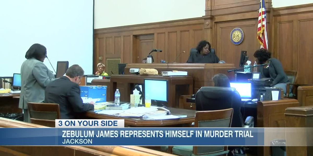 Zebulum James cross examines his sister during murder trial in Hinds County Circuit Court