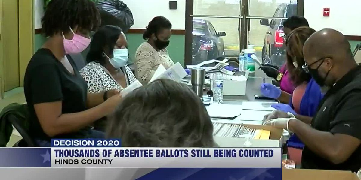 Thousands of absentee ballots still being counted in Hinds Co., three races at stake