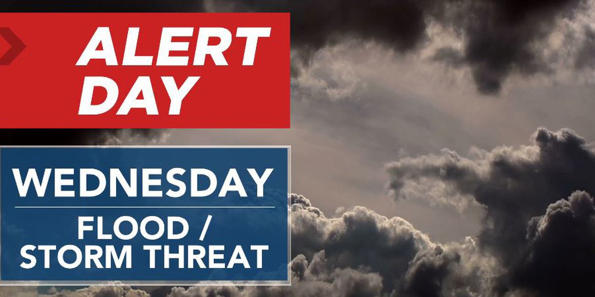 ALERT DAY: Few strong-severe storms possible today & tonight